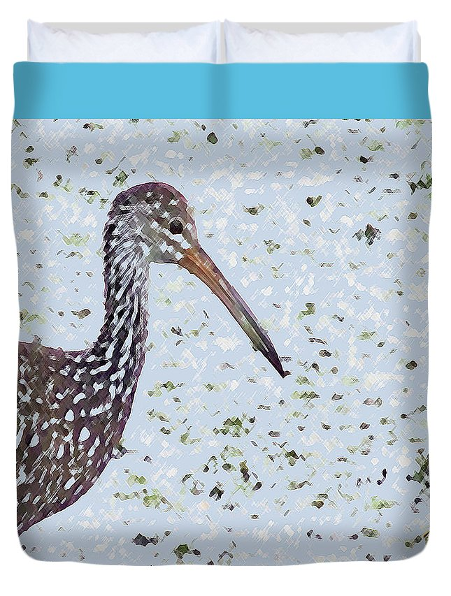 Bird Duvet Cover featuring the photograph Pastel Limpkin by Mike Mullins