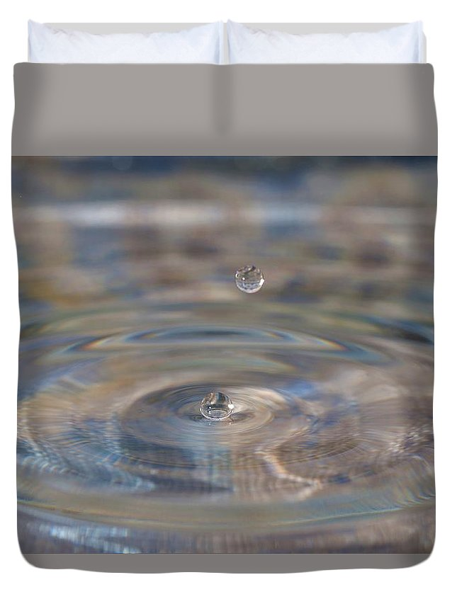 Water Drop Duvet Cover featuring the photograph Pastel Water Sculpture 5 by Kristina Jones