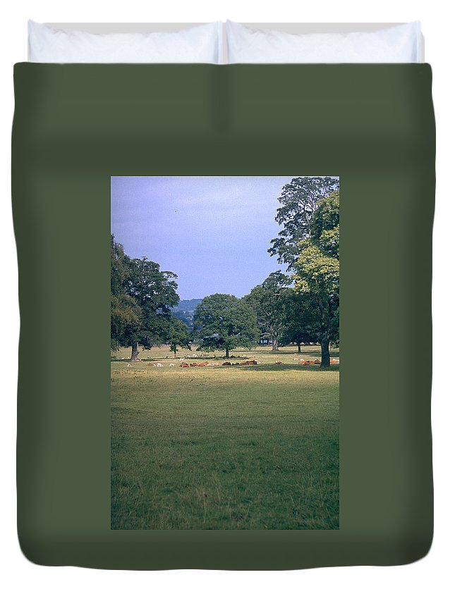 Great Britain Duvet Cover featuring the photograph Pasture by Flavia Westerwelle