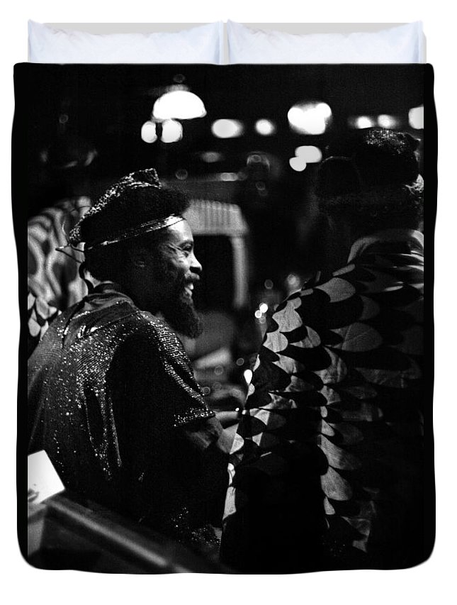 Sun Ra Arkestra At The Red Garter 1970 Nyc Duvet Cover featuring the photograph Pat Patrick 1 by Lee Santa