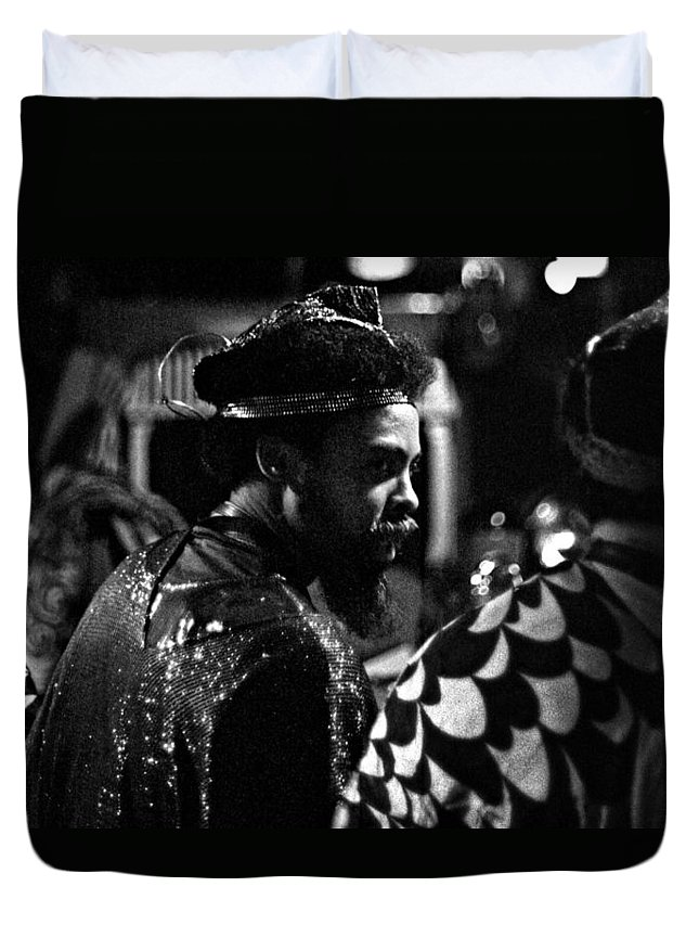 Sun Ra Arkestra At The Red Garter 1970 Nyc Duvet Cover featuring the photograph Pat Patrick 2 by Lee Santa