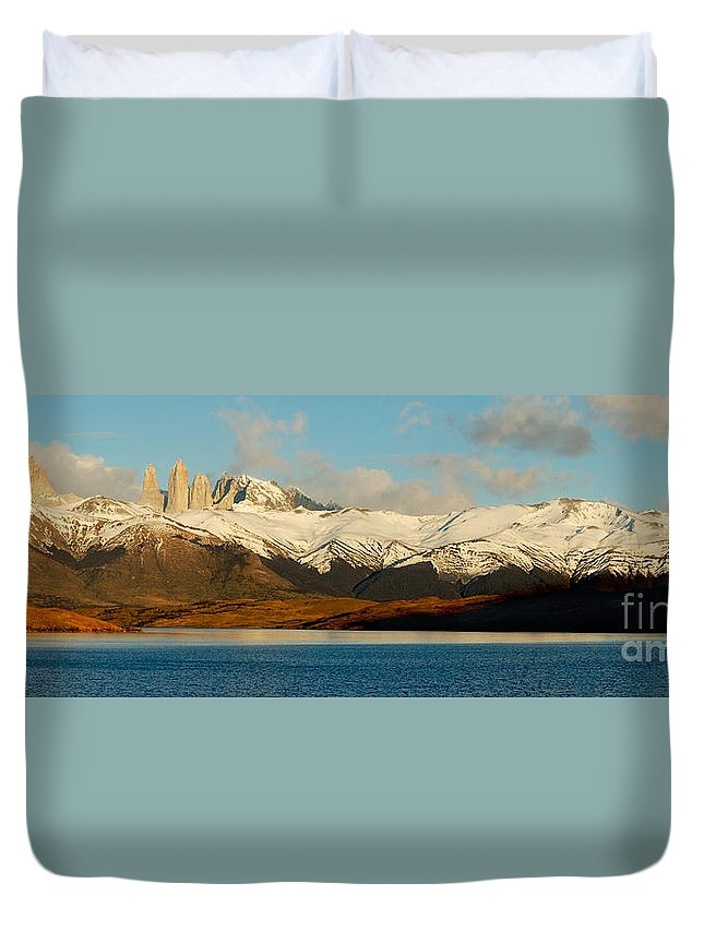 Patagonia Duvet Cover featuring the photograph Patagonia Panorama by Mircea Costina Photography