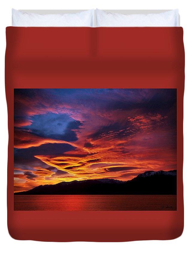 Patagonia Duvet Cover featuring the photograph Patagonian Sunrise by Joe Bonita