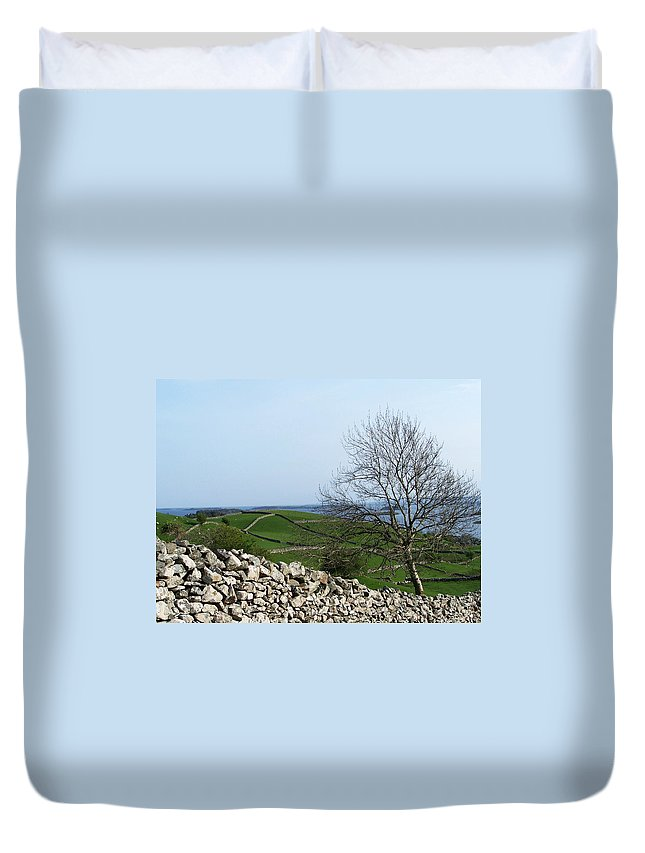 Irish Duvet Cover featuring the photograph Patchwork Quilt Lough Corrib Maam Ireland by Teresa Mucha