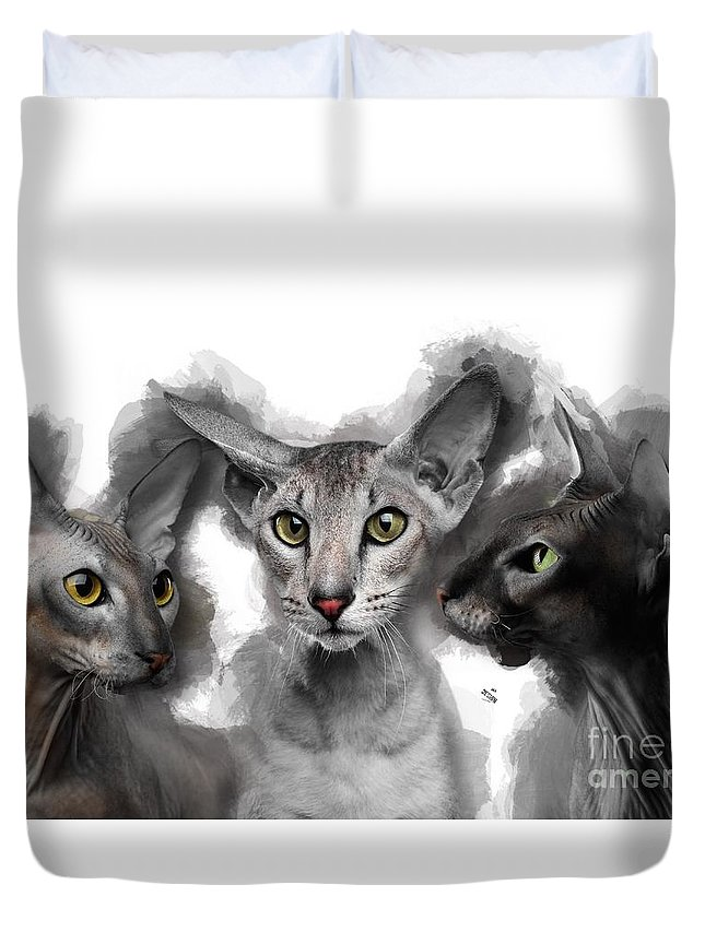Imia Design Duvet Cover featuring the digital art Paterbald Group No 01 by Maria Astedt