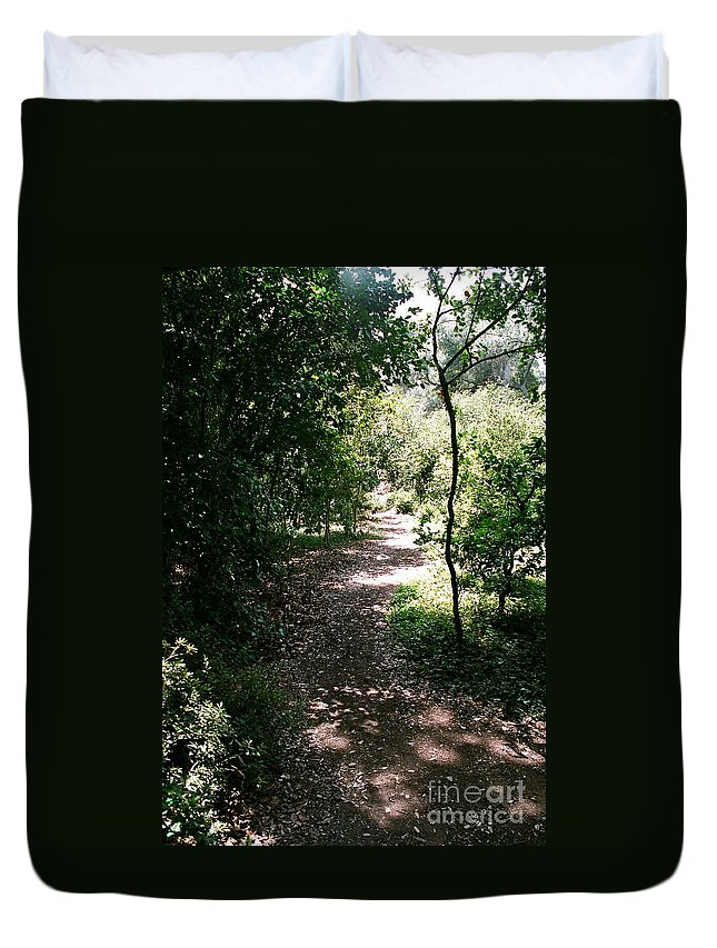 Path Duvet Cover featuring the photograph Path by Dean Triolo
