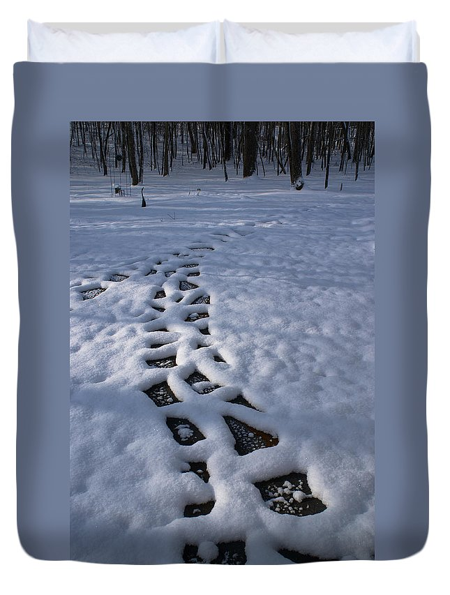Path Duvet Cover featuring the photograph Path by Douglas Barnett