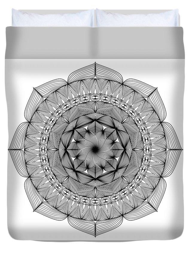 Duvet Cover featuring the digital art Path Home by Simone Thomas