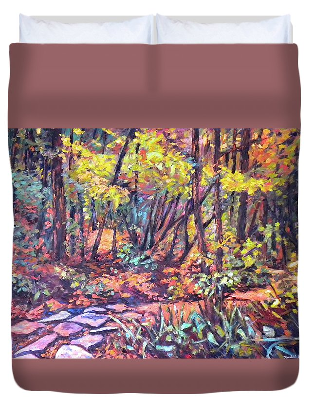 Landscape Duvet Cover featuring the painting Path Near Pandapas by Kendall Kessler