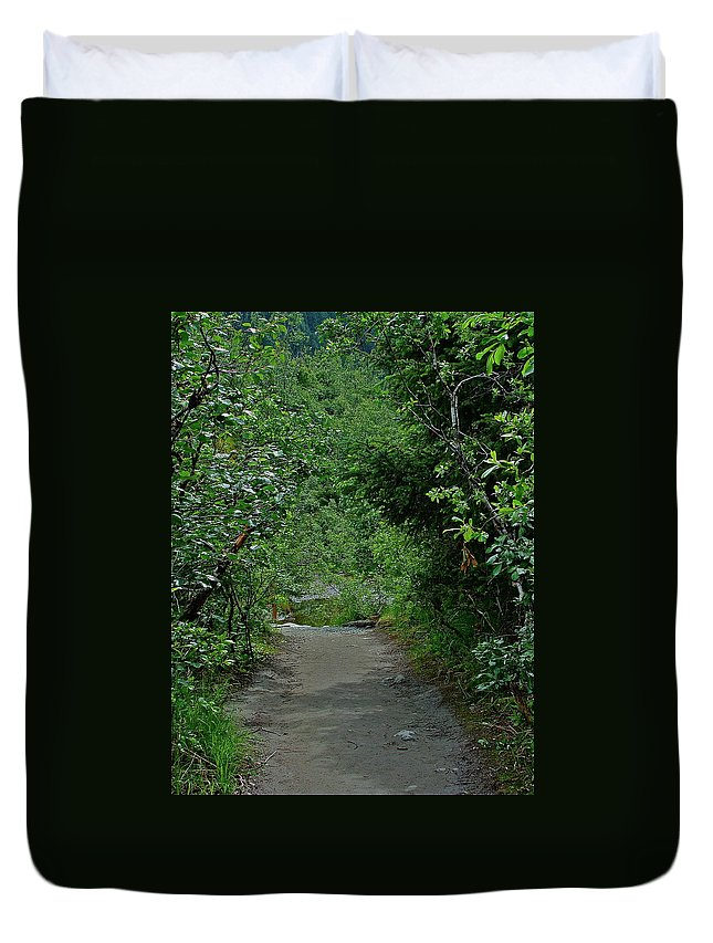 Path Duvet Cover featuring the photograph Path To Adventure by Diana Hatcher