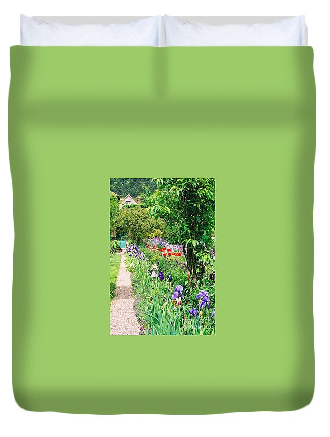 Claude Monet Duvet Cover featuring the photograph Path to Monet's House by Nadine Rippelmeyer