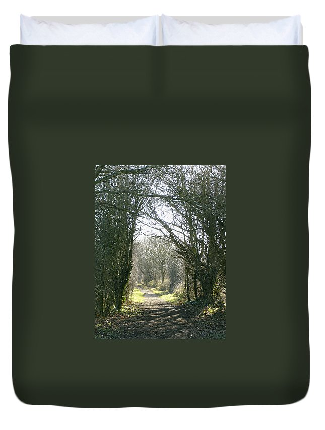 Path Duvet Cover featuring the photograph Path To Wherever by Susan Baker