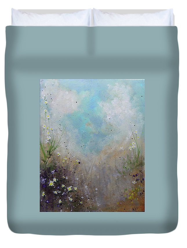 Beach Duvet Cover featuring the painting Pathway by KAT Warren