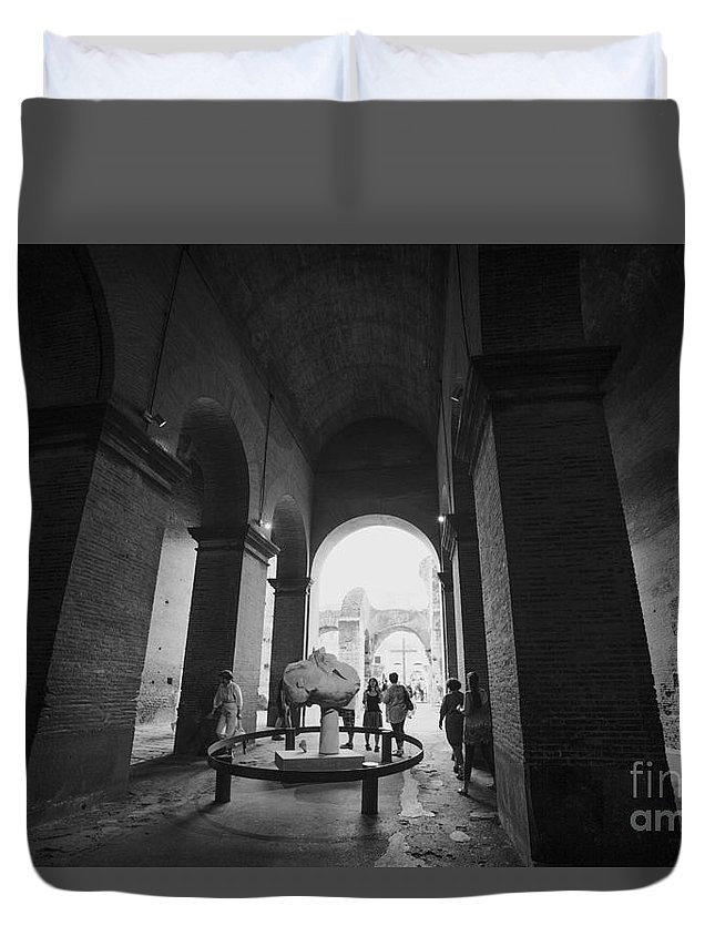 Rome Duvet Cover featuring the photograph Pathway To History In Rome by Alanna DPhoto