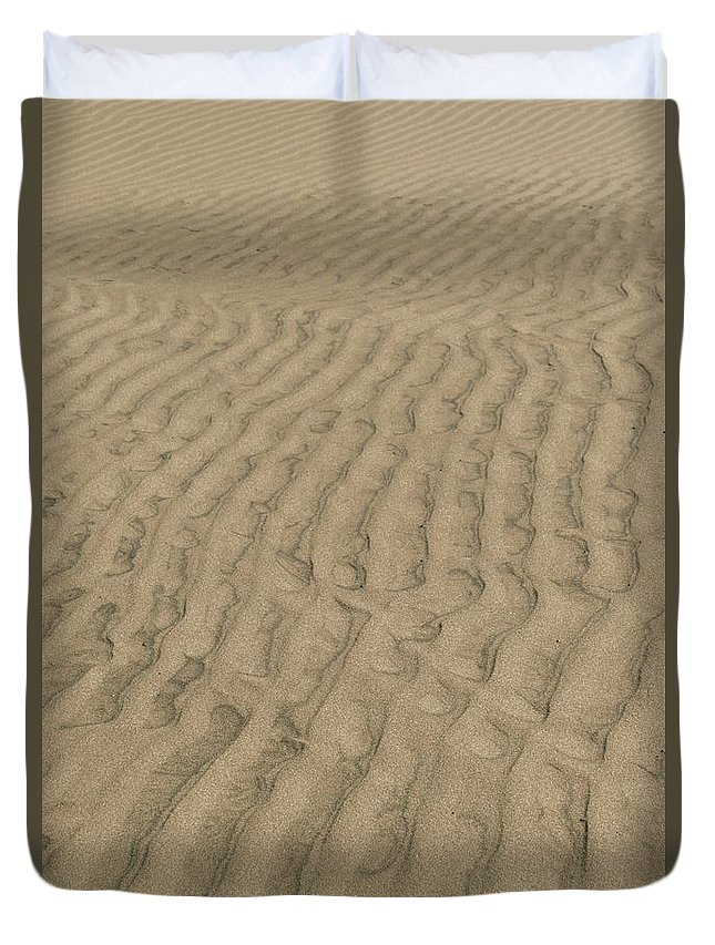 Sand Duvet Cover featuring the photograph Pathways by Hany J
