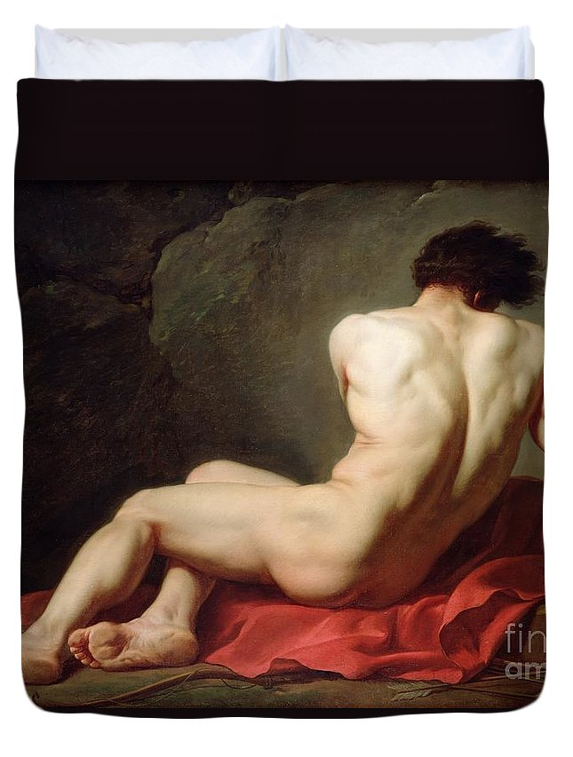 Patrocles Duvet Cover featuring the painting Patrocles by Jacques Louis David