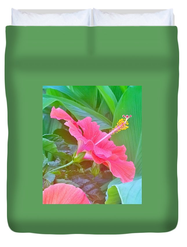 Garden Duvet Cover featuring the photograph Pat's Hibiscus by Gayle Miller