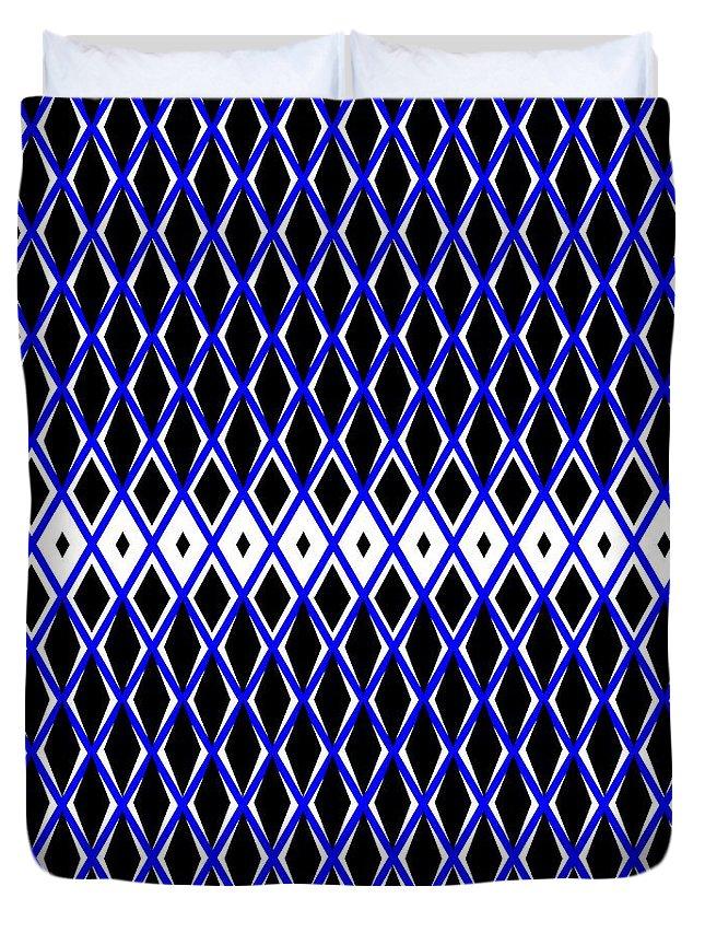 Pattern Duvet Cover featuring the digital art Pattern 185 by Irina Effa
