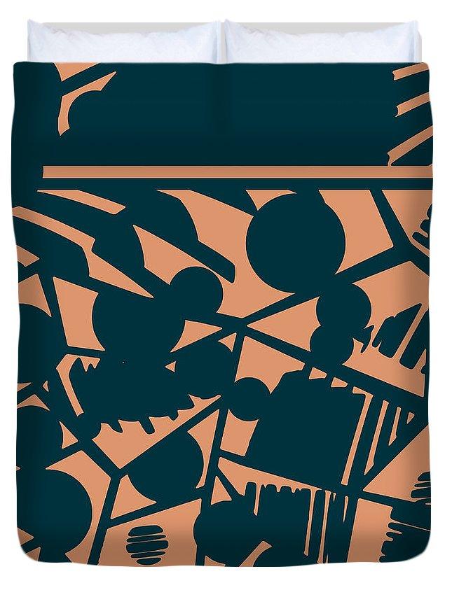 Pattern Duvet Cover featuring the digital art Pattern 59 by Irina Effa