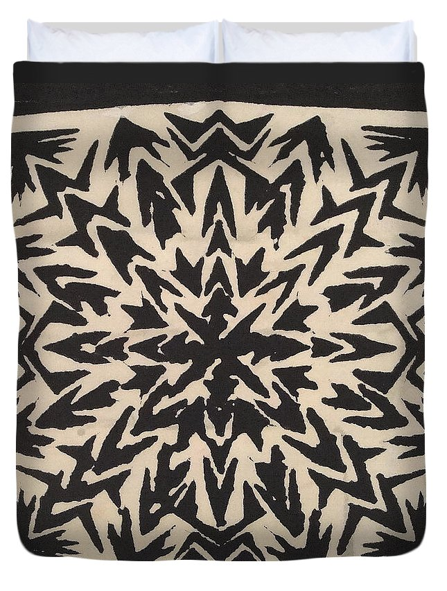 Abstract Duvet Cover featuring the mixed media Pattern Creation by Natalie Holland