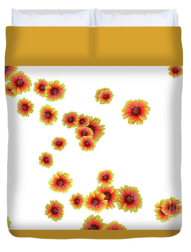 Flowers Duvet Cover featuring the photograph Patterns From Flowers by Elvira Ladocki