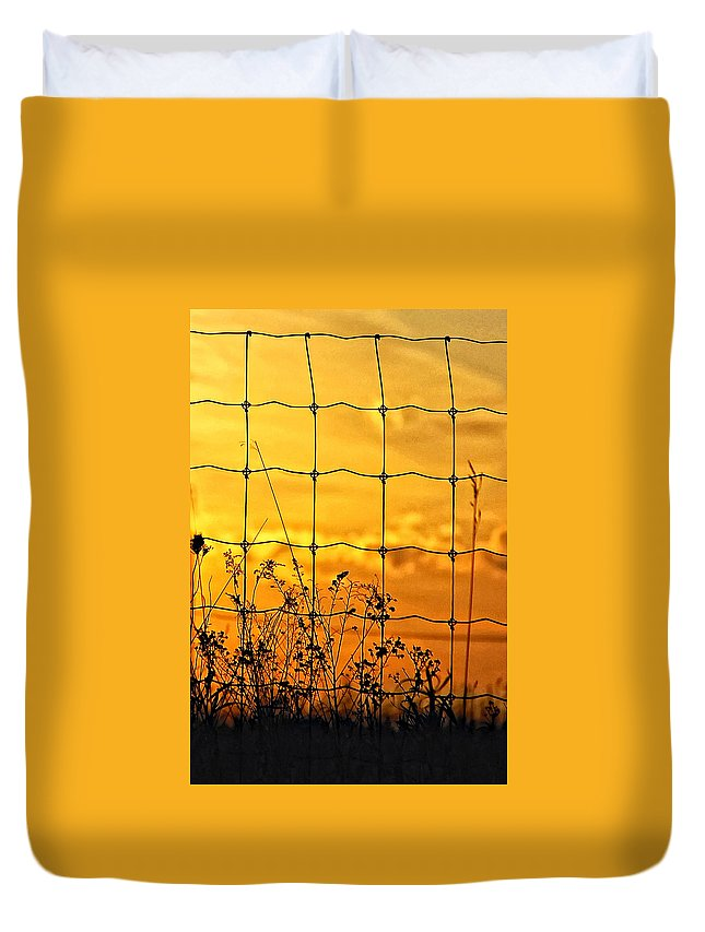 Weeds Duvet Cover featuring the photograph Patterns by Steve Harrington
