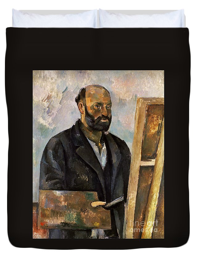 1885 Duvet Cover featuring the photograph Paul Cezanne (1839-1906) by Granger