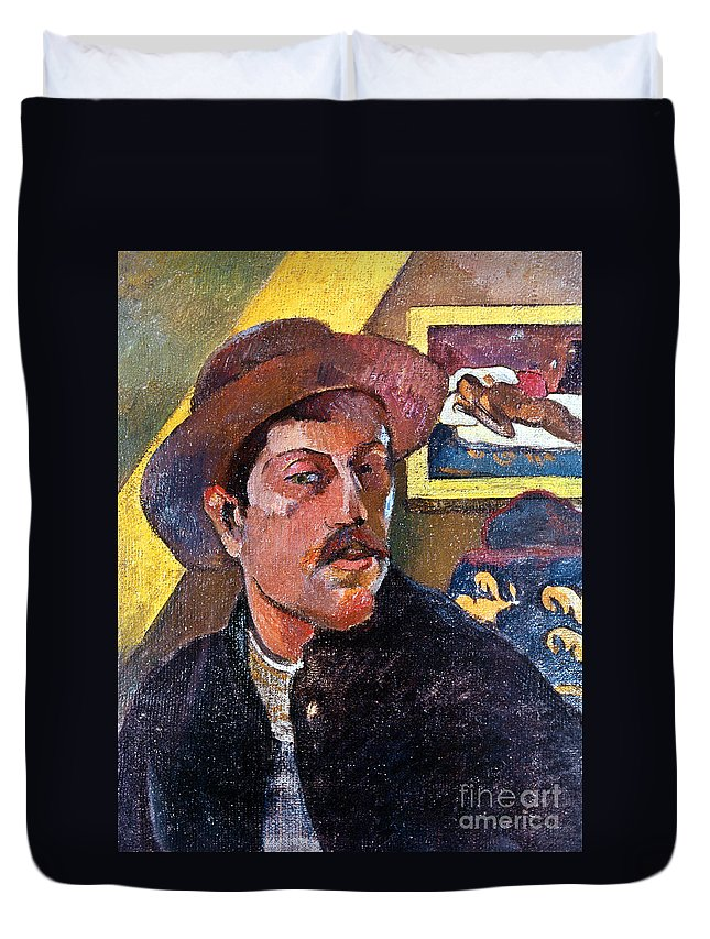 1893 Duvet Cover featuring the photograph Paul Gaugin (1848-1903) by Granger