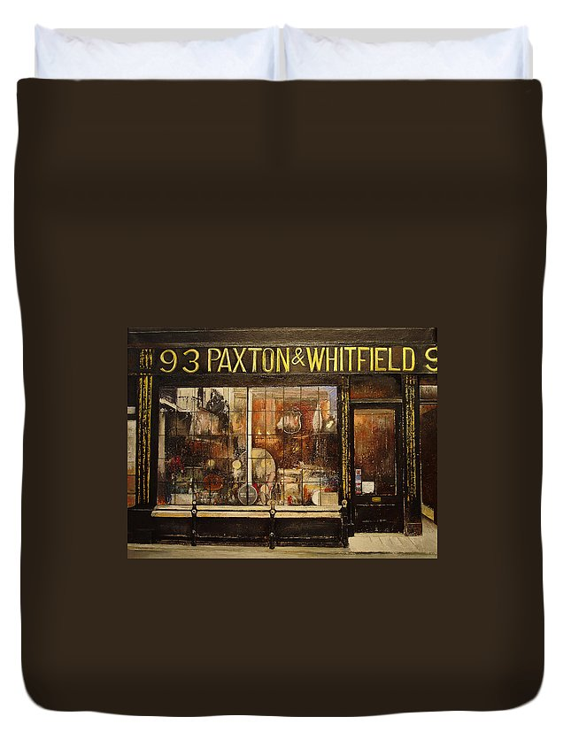 Paxton Duvet Cover featuring the painting Paxton Whitfield .london by Tomas Castano