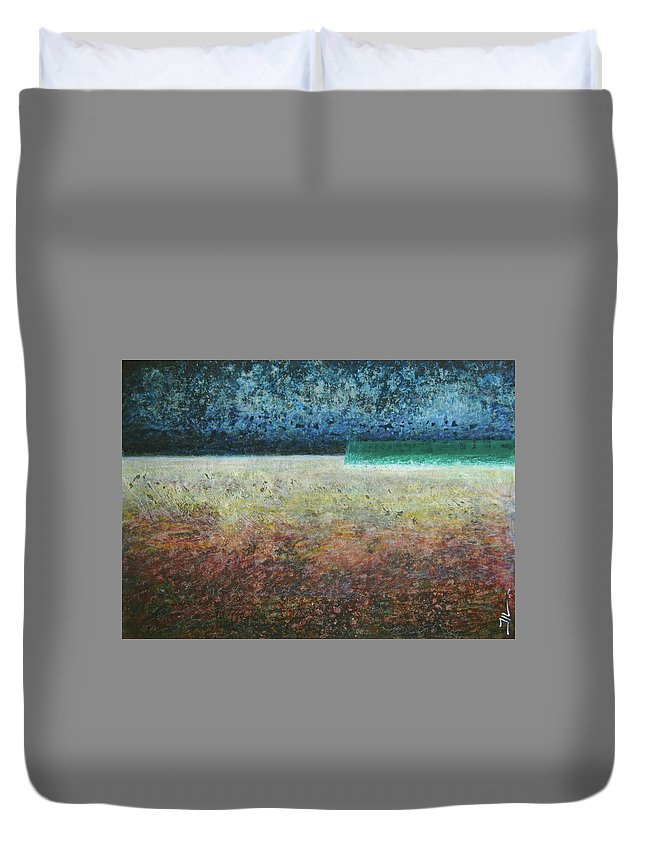 Painting Duvet Cover featuring the painting Paystract by Jean-luc Lacroix