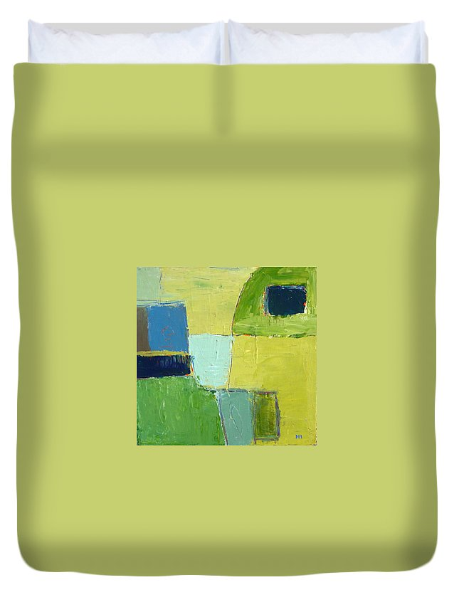 Abstract Duvet Cover featuring the painting Peace 1 by Habib Ayat
