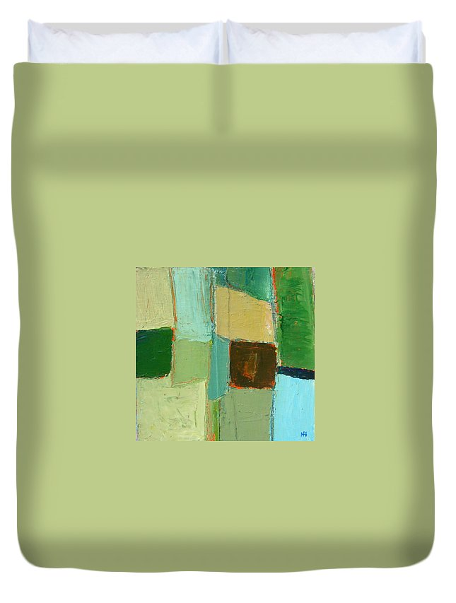 Duvet Cover featuring the painting Peace 2 by Habib Ayat