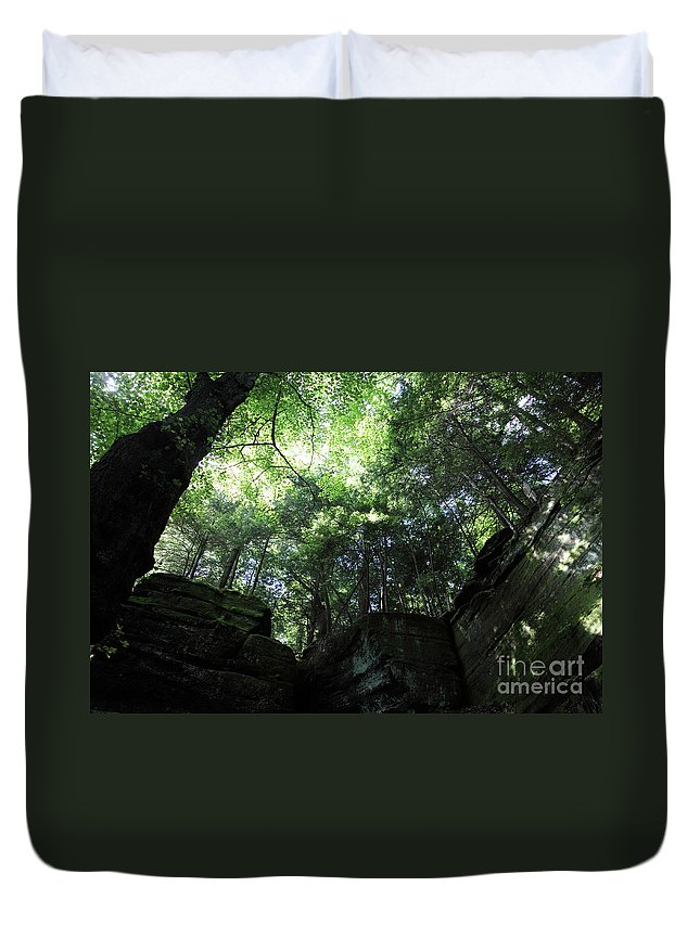 Nature Duvet Cover featuring the photograph Peace All Around by Amanda Barcon