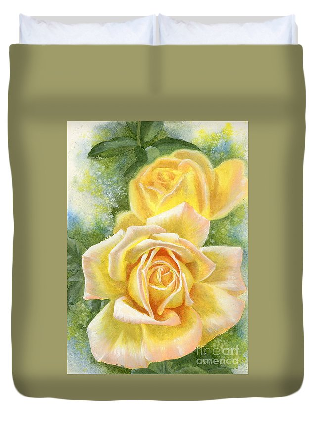 Peace Duvet Cover featuring the painting Peace by Barbara Keith