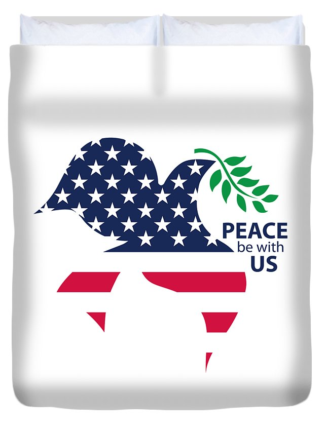 Peace Duvet Cover featuring the digital art Peace Be With Us by Steve Lockwood