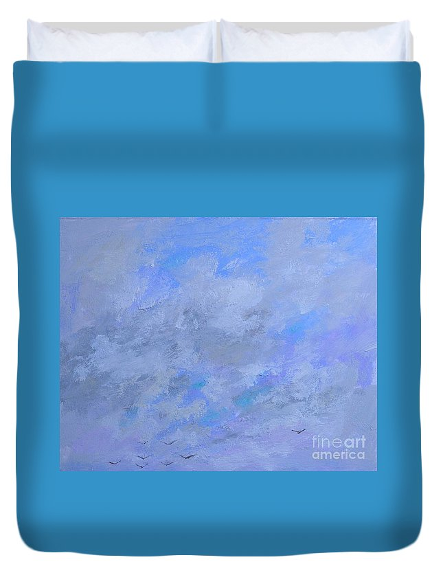 Peace Of Mind Duvet Cover featuring the painting Peace Beyond Understanding by Philip Jones