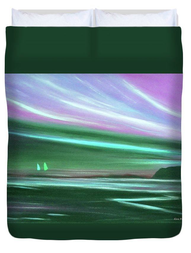 Brown Duvet Cover featuring the painting Peace Is Colorful 3 by Gina De Gorna