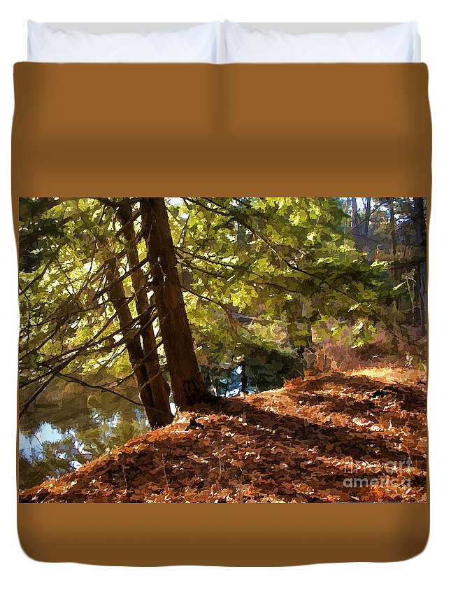 Evergreen Duvet Cover featuring the photograph Peace On Earth by Betsy Zimmerli