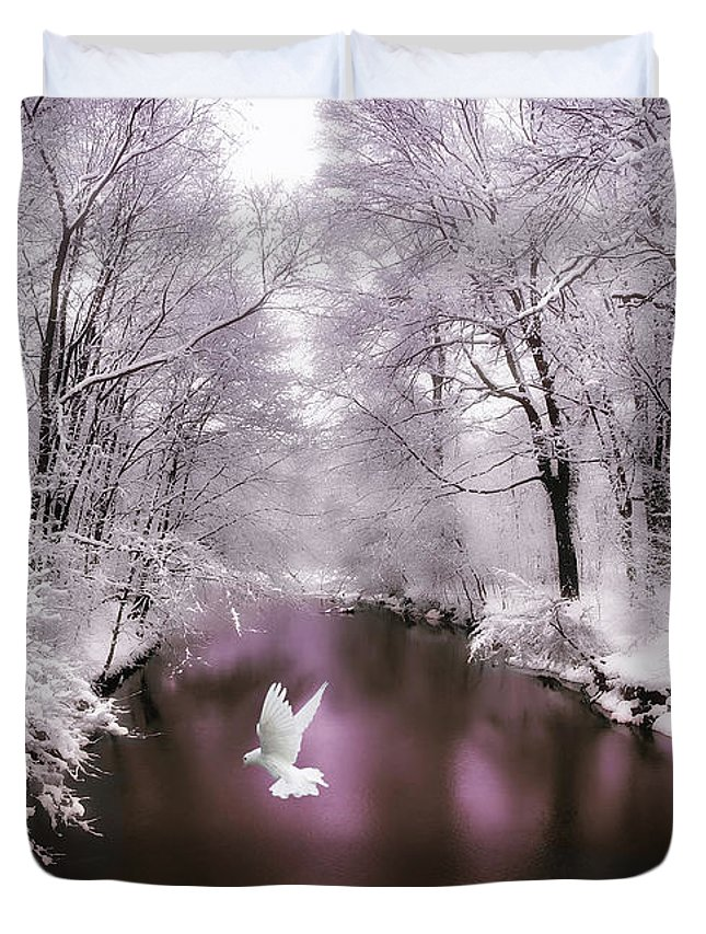 Snow Duvet Cover featuring the photograph Peace On Earth  by Jessica Jenney