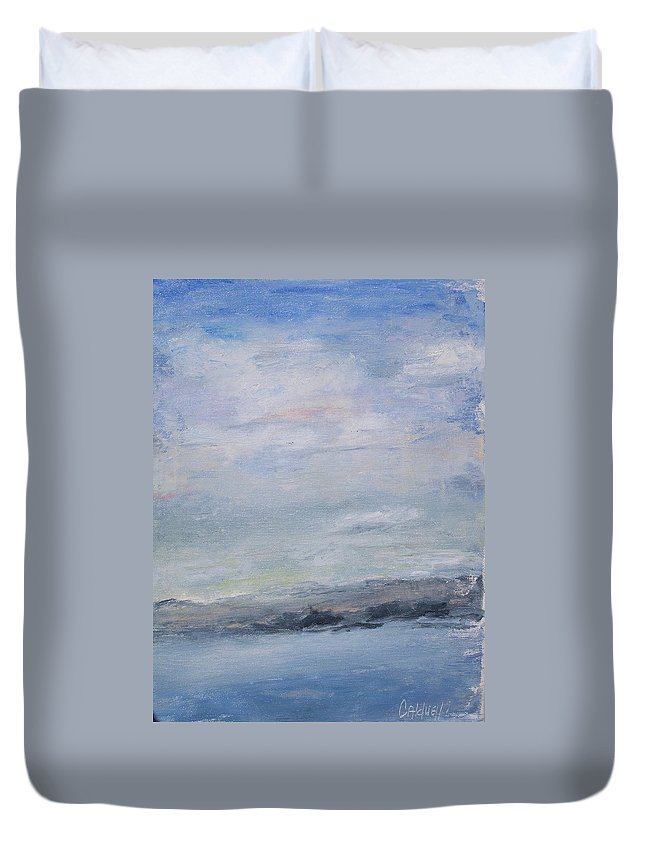 Sky Duvet Cover featuring the painting Peace by Patricia Caldwell