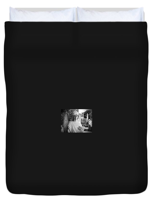 Angel Duvet Cover featuring the photograph Peace by Shannon Ballard