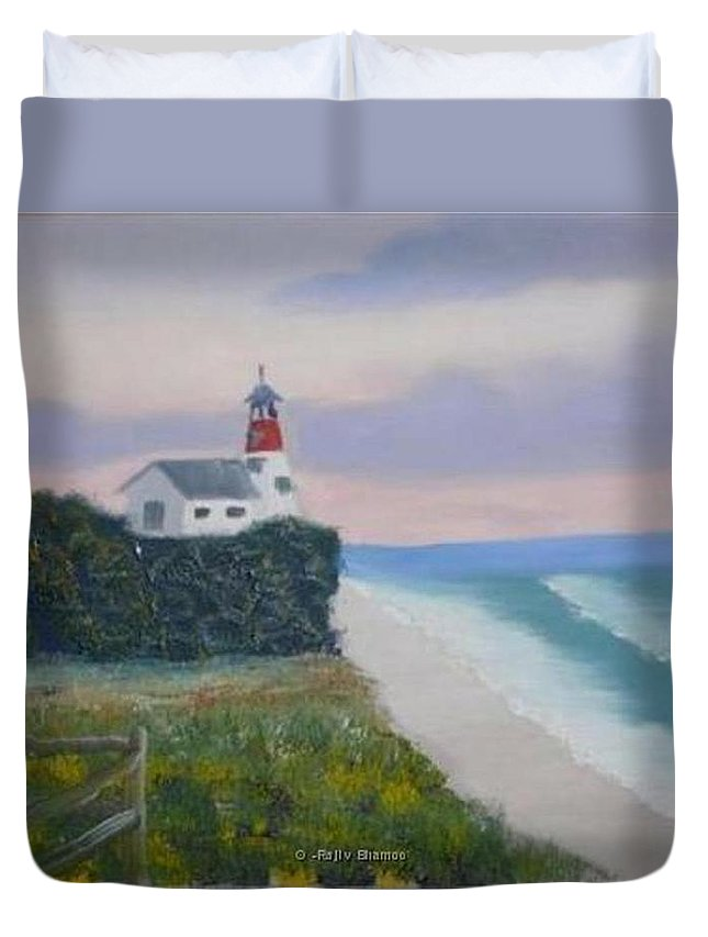 Seascape Duvet Cover featuring the painting Peace Sold by R B