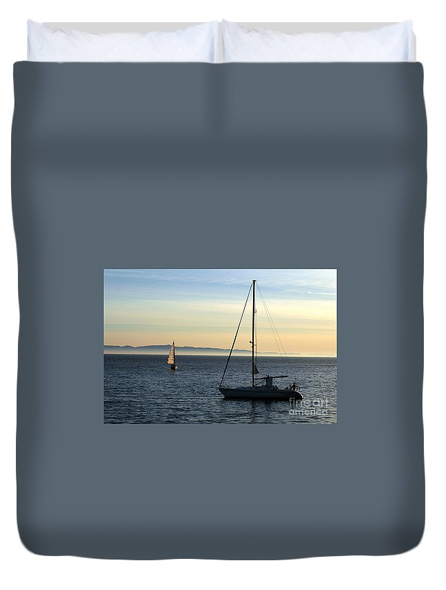 Clay Duvet Cover featuring the photograph Peaceful Day In Santa Barbara by Clayton Bruster