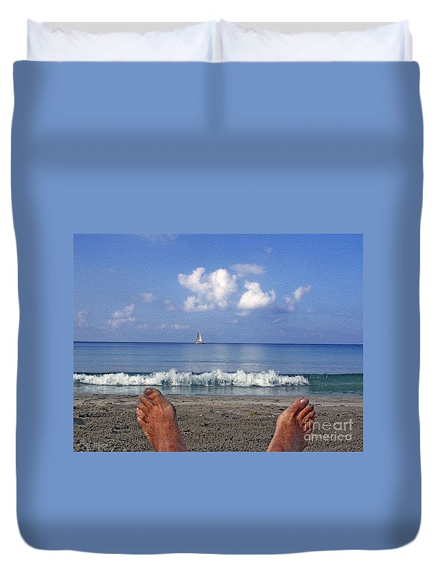 Sea Duvet Cover featuring the photograph Peaceful Existence by Dee Flouton