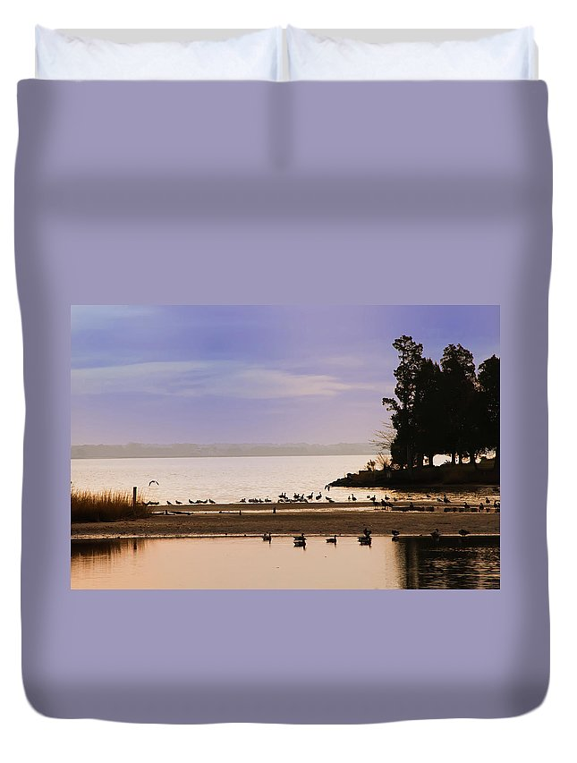 Chesapeake Duvet Cover featuring the photograph Peaceful Morning by Bill Cannon