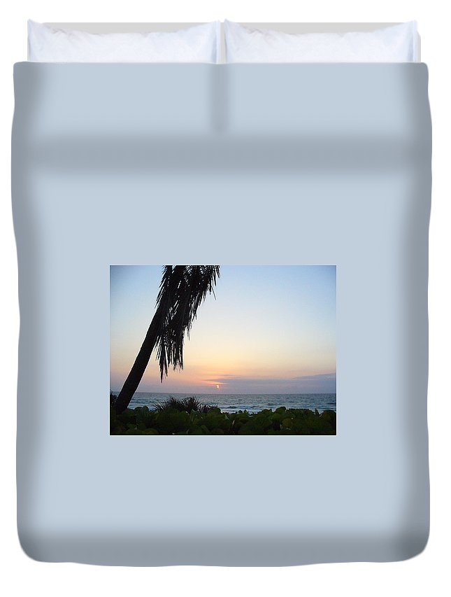 Ocean Duvet Cover featuring the photograph Peaceful Morning by Peggy King