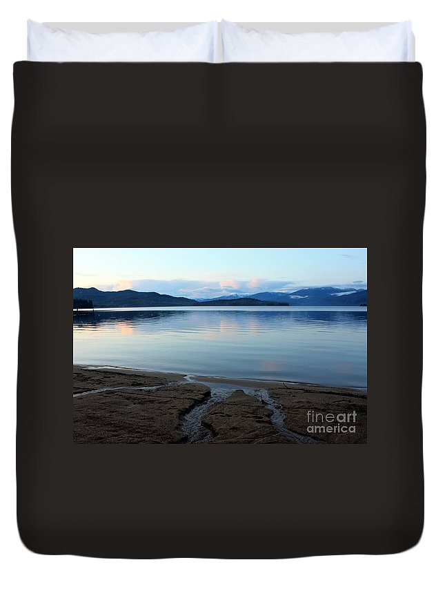 Beach Duvet Cover featuring the photograph Peaceful Priest Lake by Carol Groenen