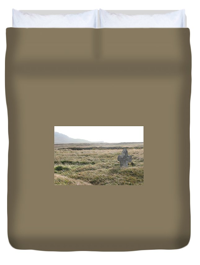 Midievil Duvet Cover featuring the photograph Peaceful Rest by Kelly Mezzapelle