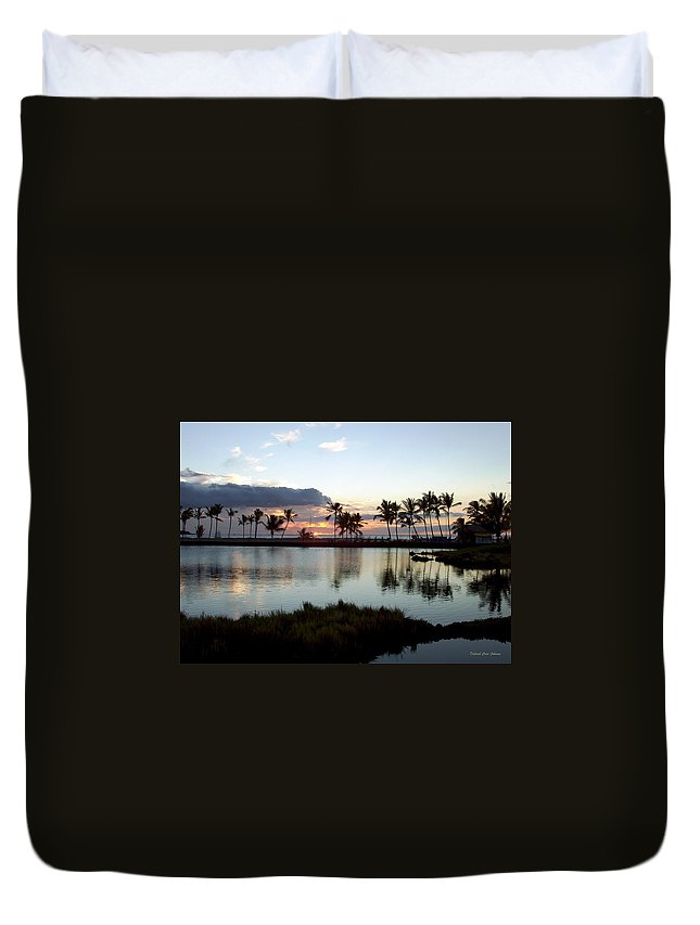 Sunset Duvet Cover featuring the photograph Peaceful Sunset by Deborah Crew-Johnson