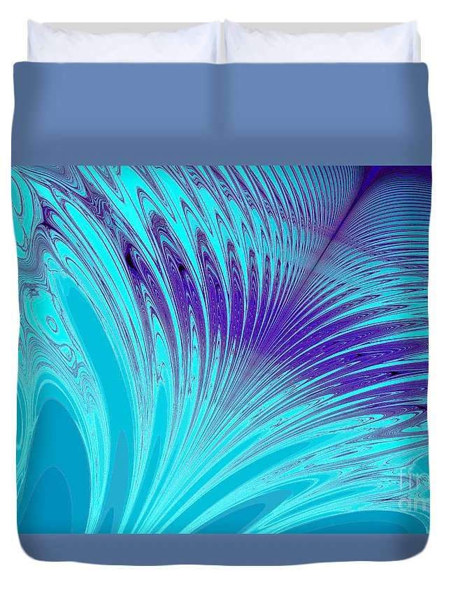 Clay Duvet Cover featuring the digital art Peacock by Clayton Bruster
